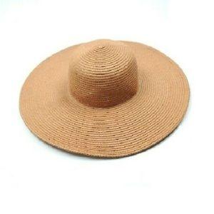 J. Crew Paper Straw Floppy Wide Brim Sun Hat